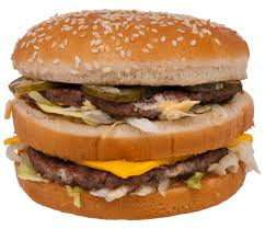 Slightly unappealing big mac burger