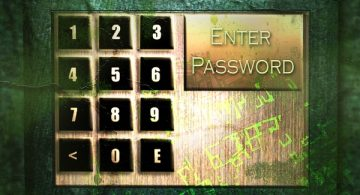 dirty digital keypad for safe