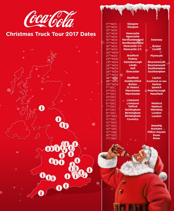 Coca Cola Truck Tour 2017 dates poster
