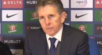 Claude Puel Leicester City manager press conference