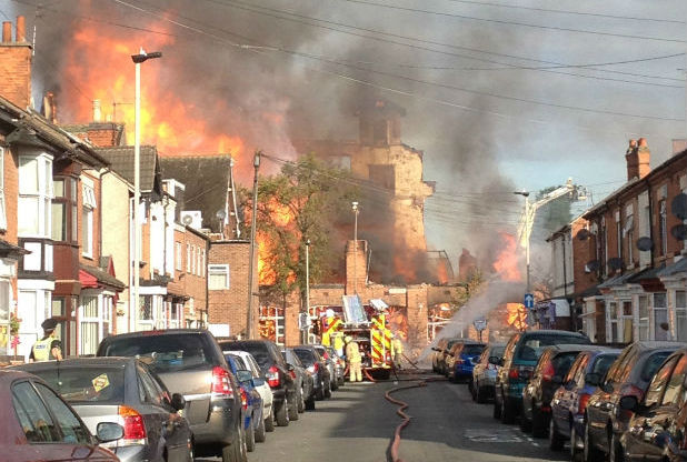 Leicester fire Melton Road