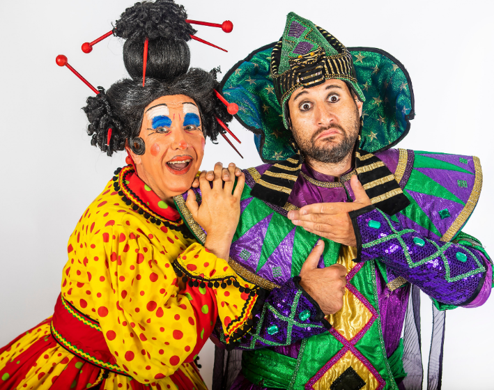Antony Costa and Martin Ballard in Aladdin