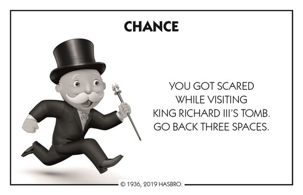 Chance card from Leicester Monopoly